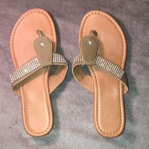 lightly worn sandals/flip flops